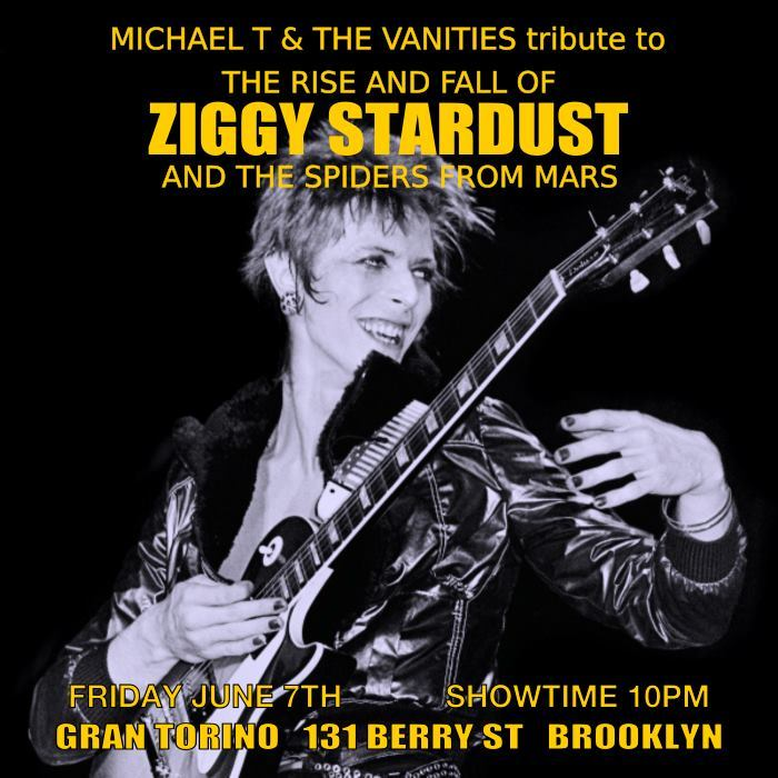 "Michael T and the Vanities live tribute to ""The Rise and Fall of Ziggy Stardust and the Spiders from Mars"""
